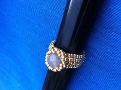 Anello perla Swarovski incastonata con roccailles