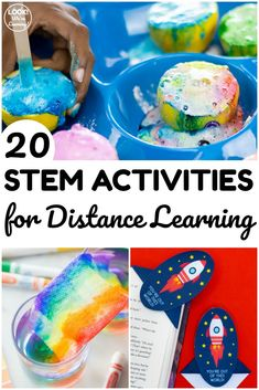 This list of 20 STEM activities for distance learning are fun and easy to help students practice STEM concepts at home! Enrichment Activities, Educational Activities For Kids, Science Activities, Leadership Activities, Science Resources, Science Ideas, Science Books, Group Activities, Science Education