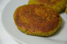 hamburguer de lentilhas e courgette