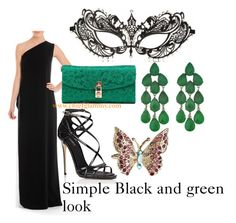 """""""Masquerade Outfit Idea"""" by chiefglammy on Polyvore featuring ESCADA, Dolce&Gabbana, Siman Tu and Accessorize"""