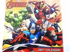 Marvel Avengers Hulk Captain America 2017 Wall Calendar 12 Months New & Sealed #Marvel