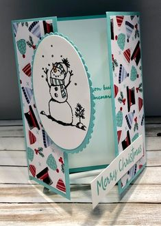 Tamie Ackerson, Stampin' Up Demonstrator, Christmas Card Crafts, Homemade Christmas Cards, Christmas Cards To Make, Xmas Cards, Homemade Cards, Holiday Cards, Stampin Up Christmas, Christmas Tag, Fancy Fold Cards