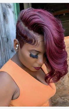 natur color Cute bob hairstyles wigs for black women lace front wigs human hair wigs african american wigs Short Weave Hairstyles, Cute Bob Hairstyles, Shaved Side Hairstyles, My Hairstyle, Wig Hairstyles, Haircuts, Fashion Hairstyles, Curly Hair Styles, Natural Hair Styles