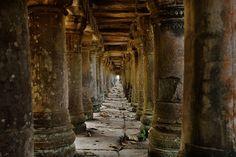 Eazywallz  - Long corridor in Angkor temple, Cambodia Wall Mural, $129.00 (http://www.eazywallz.com/long-corridor-in-angkor-temple-cambodia-wall-mural/)