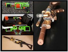 steampunk rifle with piping and vaccumn tube from TheMechanicalMarvel