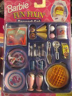 Barbie-Fun-Fixin-Dessert-Mini-Food-Set-24-Piece-Set-1997-NIP-Pretend-Play-Fun