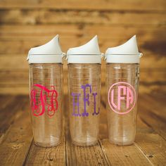 Monogrammed Tervis water bottle. 24 ounces with by forposhsake