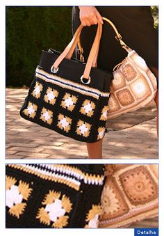 Great color combination and design Purse Patterns Free, Crochet Purse Patterns, Crochet Tote, Crochet Handbags, Crochet Purses, Diy Crochet, Crotchet Bags, Knitted Bags, Diy Bags Purses