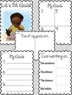 FREE goal setting sheets from Liz's Early Learning Spot.