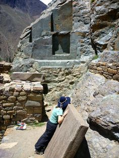 Temple of the Condor, Ollantaytambo Peru. See those stones that have been cut from? The inside edges are ROUNDED in the corners, not flat 90 degree angles. No can explain how that was done. Also, the surface is smooth like glass due to a process called vitrification.