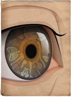 Iridology. Richard Wilkenson artwork. Client: Telegraph Magazine, 2007, for an article about how your health can be mapped in your eyes.