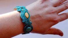 Turquoise soutache bracelet
