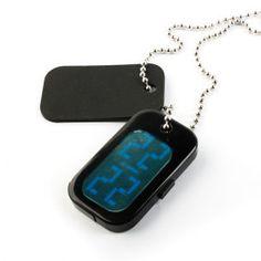 japanischen Stil Halskette blaue Licht geführt Uhr
