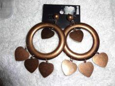 WOMEN'S FASHION COSTUME JEWELRY EARRINGS VALENTINES DAY GIFT HOOP HEART PIERCED