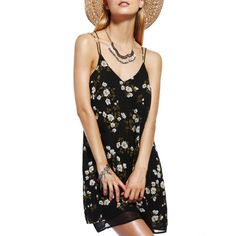 12.43$  Buy here - http://di719.justgood.pw/go.php?t=180907801 - Chic Women's V-Neck Spaghetti Strap Tropical Print Dress 12.43$