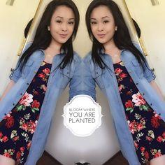 Floral dress :: jean dress from Papaya