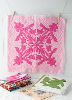 Hawaiian Quilt Inspiration and links to more information about Hawaiian quilting
