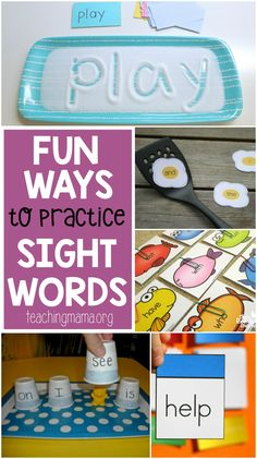 Lots of fun and hands-on ideas to practice sight words. Make learning these important words fun with these great ideas.