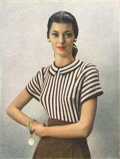 Sandra Sweater • 1940s Knitting Knit Chevron Top Ballet Ballerina Blouse • 40s Vogue Vintage Pattern • Retro Women's Digital PDF by TheStarShop on Etsy
