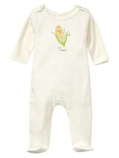 Favorite button one-piece (3-6 mo)