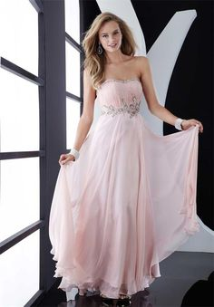light pink prom dress