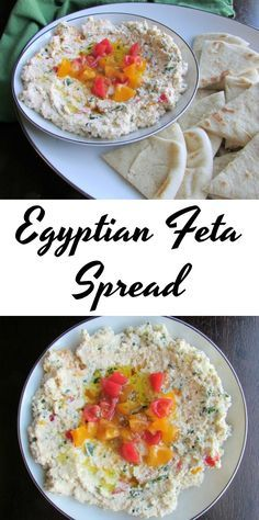 Briny and fresh all at the same time, this Egyptian Feta Spread is perfect on pita bread!