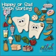 Happy and Sad Teeth (Dental Health) Health Fitness Quotes, Health And Fitness Tips, Fitness Nutrition, Health And Nutrition, Preschool Class, Preschool Curriculum, Kindergarten Fun, Dental Health Month, Coconut Oil For Teeth