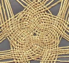 Raffia cords. Good for a base underneath something