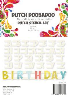 470.990.070 Dutch Stencil Art Alphabet A-Z (15 cm hoog)