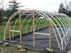 serre jardin bois plastique diy idée construction fabrication