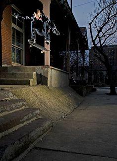 Hribar-Kickflip into bank
