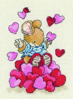 Tom With Hearts Country Companions Cross Stitch Kit £11.00 | Past Impressions | Anchor