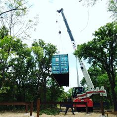 Containerhometownville, Texas USA... more to come    #containerhome #crane #doinstuff Shipping Container Design, Texas Usa, One Light, Crane, Workshop, Instagram Posts, Atelier, Work Shop Garage