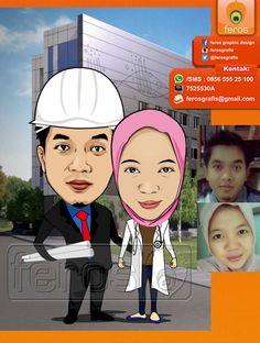 #caricature #caricatures #toon #drawing #vector #paint #digital #karikatur #family #potrait #girl #photo #photograph #prewedding #wedding #couple #love #marriage #sweet #lover #indonesia #honeymoon #architecht #doctor #medical #builder