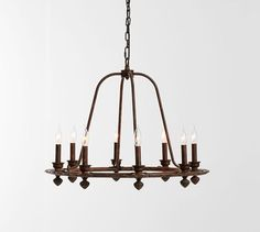 Ornate Iron Ring Chandelier | Pottery Barn ~made up my mind, i think...maybe...this one from Pottery Barn for my dining room...so many choices!