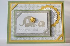 Baby card by Stampin Up and the Pursuit of Stampiness. For more super cute cards, please visit my blog :)