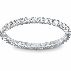 The Swarovski Vittore Ring has cristals on all sides and is perfect to combine with your wedding or engagement ring.