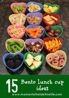 15 Bento Lunch Cup Ideas -Repinned by Totetude.com