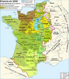 Francia en época de los primeros Capetos.