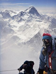 Rob Hall Near Everest South Summit With Makalu Behind 1995. He died near the South summit in the fatal 1996 storm.