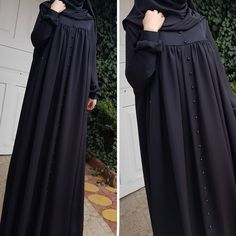 <img> Cilbab with pearl button edenSize 🎀Color 🎀For information and order 👘Whatsap 05385161787 # cilbab # sheets # sheets # sheriff # veil # ferace… - Niqab Fashion, Modest Fashion Hijab, Muslim Fashion, Fashion Outfits, Muslim Dress, Hijab Dress, Hijab Style Tutorial, Modele Hijab, Mode Abaya