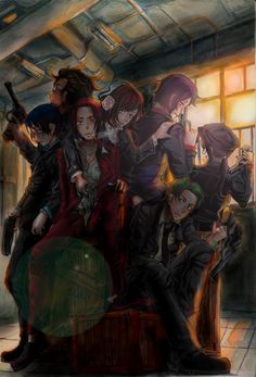 Hetalia Asian Mafia; it'd be easier for me to just say that almost everyone's accounted for than to list them all! - Artist unknown