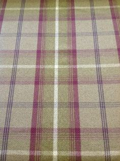 BALMORAL TARTAN LARGE CHECK By The Meter In Green And Purple £20.00