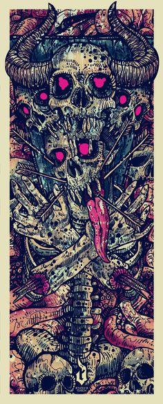 Obsessed With Skulls • Art by Vagelis Petikas....