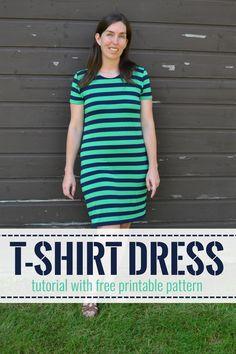 T-Shirt Dress Tutorial & Pattern