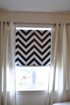 Dressing up a roller shade. Hey, I've had this idea FOREVER!  Looks like someone already beat me to it!  :)