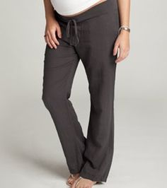 Dig these linen #maternity pants from Ingrid & Isabel @babycenter #giveaway