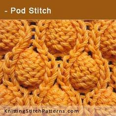 Pod Stitch. Free Knitting Pattern includes written instructions and video tutorial.