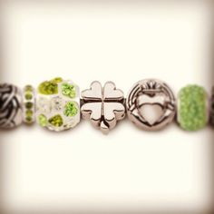 It's the luck of the #Irish! #clover #charm #bracelet