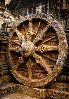 Sun temple, Konark, Orissa | the chariot of the Sun God, Surya | built from oxidized and weathered ferruginous sandstone | UNESCO designated world heritage site